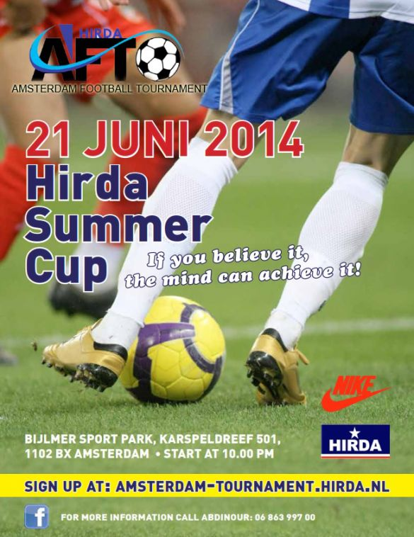 HIRDA Summer Cup 2014 flyer